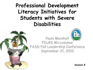 Professional Development Literacy Initiatives for Students with Severe Disabilities