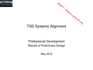 TSD Systems Alignment