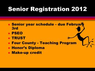 Senior Registration 2012