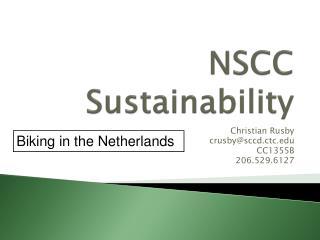 NSCC Sustainability