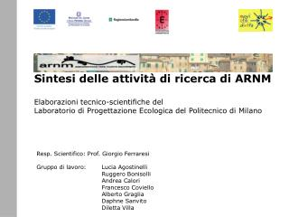 Resp. Scientifico: Prof. Giorgio Ferraresi