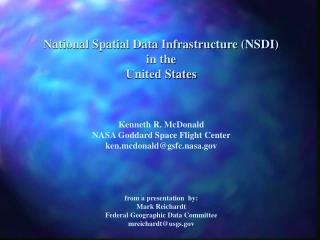 National Spatial Data Infrastructure (NSDI) in the United States