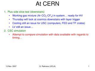 At CERN