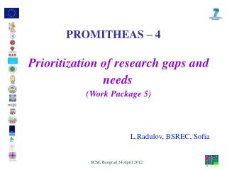 Prioritization of research gaps and needs ( Work Package 5)