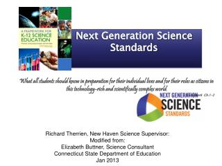 Richard Therrien, New Haven Science Supervisor: Modified from: