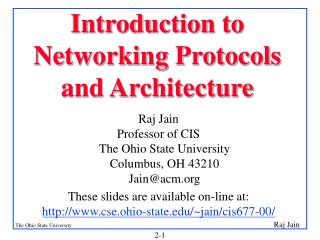 Introduction to Networking Protocols and Architecture
