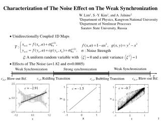 Characterization of The Noise Effect on The Weak Synchronization