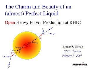 The Charm and Beauty of an  (almost) Perfect Liquid Open  Heavy Flavor Production at RHIC