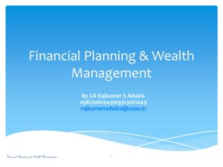 Financial Planning & Wealth Management