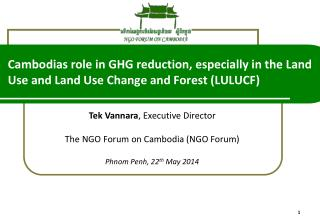 Tek  Vannara , Executive Director  The NGO Forum on Cambodia (NGO Forum)
