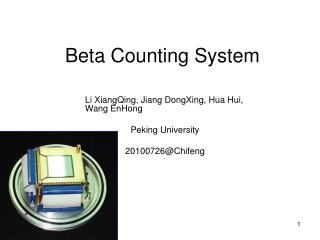 Beta Counting System