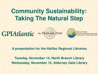 Community Sustainability: Taking The Natural Step