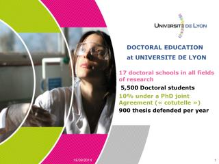 DOCTORAL EDUCATION at UNIVERSITE DE LYON
