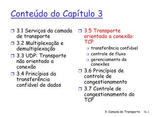 Conte�do do Cap�tulo 3