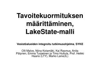Tavoitekuormituksen määrittäminen, LakeState-malli
