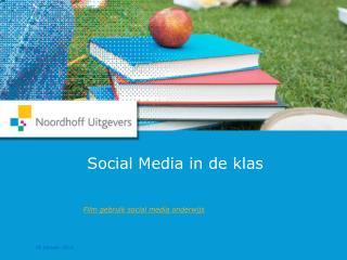 Social Media in de klas
