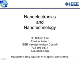Nanoelectronics and Nanotechnology