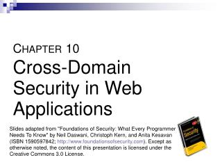 C HAPTER 10 Cross-Domain Security in Web Applications