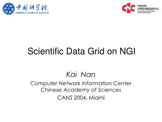 Scientific Data Grid on NGI