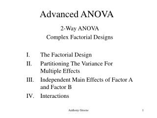 Advanced ANOVA