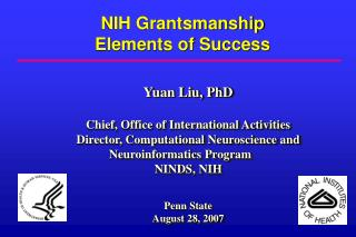 Yuan Liu, PhD Chief, Office of International Activities