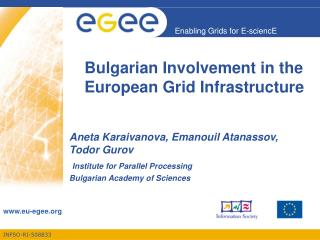 Bulgarian Involvement in the European Grid Infrastructure