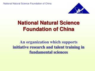 National Natural Science Foundation of China