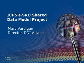 ICPSR-SRO Shared Data Model Project