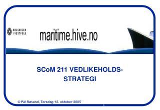 SCoM 211 VEDLIKEHOLDS- STRATEGI