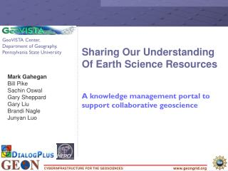 Sharing Our Understanding Of Earth Science Resources