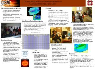 CISM Diversity: Goals and Objectives