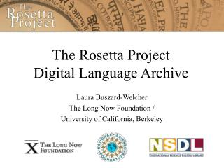 The Rosetta Project   Digital Language Archive