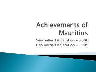 Achievements of Mauritius