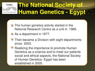 The National Society of Human Genetics - Egypt