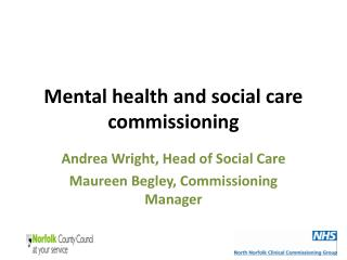 Mental health and social care commissioning