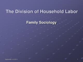 The Division of Household Labor