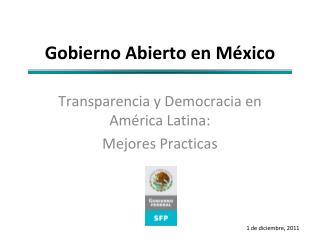 Gobierno Abierto en México