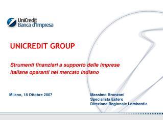 Milano, 18 Ottobre 2007     Massimo Bronzoni Specialista Estero