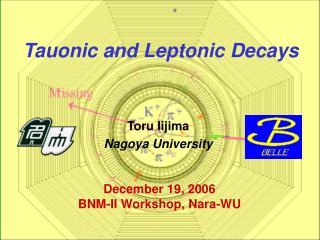 Toru Iijima  Nagoya University