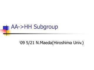 AA->HH Subgroup