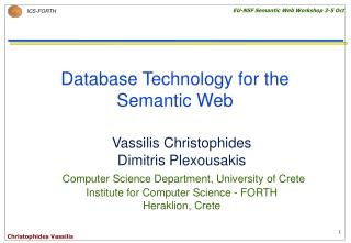 Database Technology for the Semantic Web