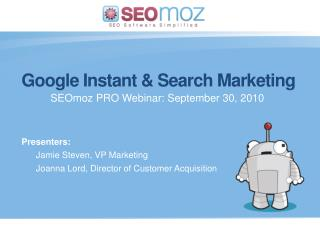 Google Instant & Search Marketing