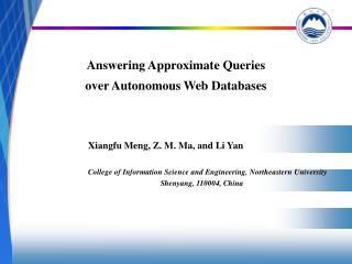 Answering Approximate Queries  over Autonomous Web Databases