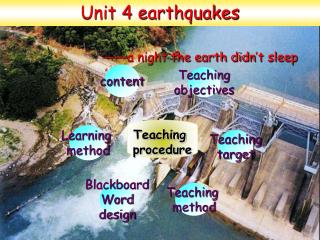 Unit 4 earthquakes —— a night the earth didn ' t sleep