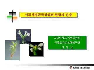 식물생명공학산업의 현황과 전망