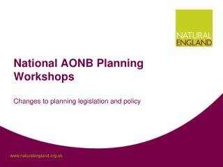National AONB Planning Workshops