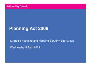 Planning Act 2008