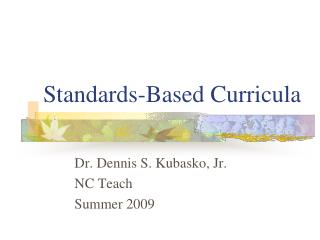 Standards-Based Curricula