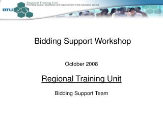 Bidding Support Workshop