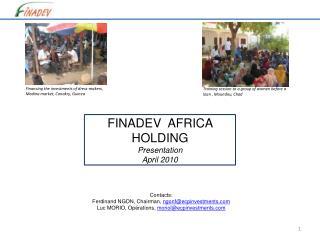 FINADEV  AFRICA HOLDING Presentation April  2010